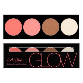 Paleta rumenila, bronzera i hajlajtera L.A. Girl Beauty Brick Blush Collection - Glow