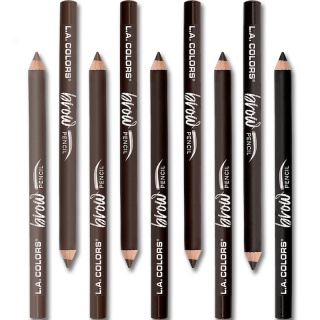 Olovka za obrve L.A. COLORS On Point Brow Pencil - Dark Brown