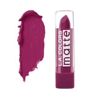 Mat ruž za usne L.A. COLORS Matte Lip Color - Stay Put Plum